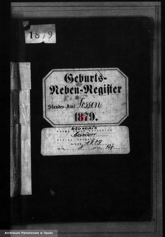 "Obraz 2 z jednostki ""Geburts-Neben-Register Standes-Amt Lossen 1879"""