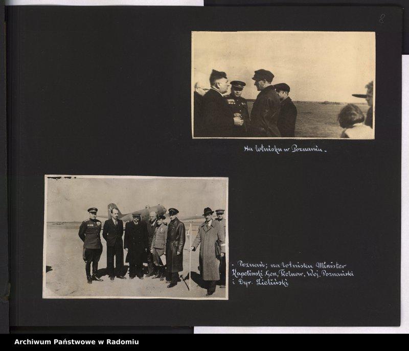 """Obraz 9 z jednostki """"[Album fotograficzny dokumentujący reaktywowanie krajowych połączeń lotniczych przez Polskie Linie Lotnicze """"Lot""""]"""""""