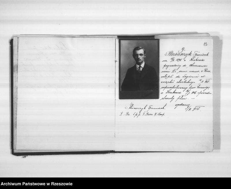 """Obraz 13 z jednostki """"Delegatura Departamentu Wojskowego N.K.W. Rzeszów (album superarbitrowanych Legionistów)."""""""