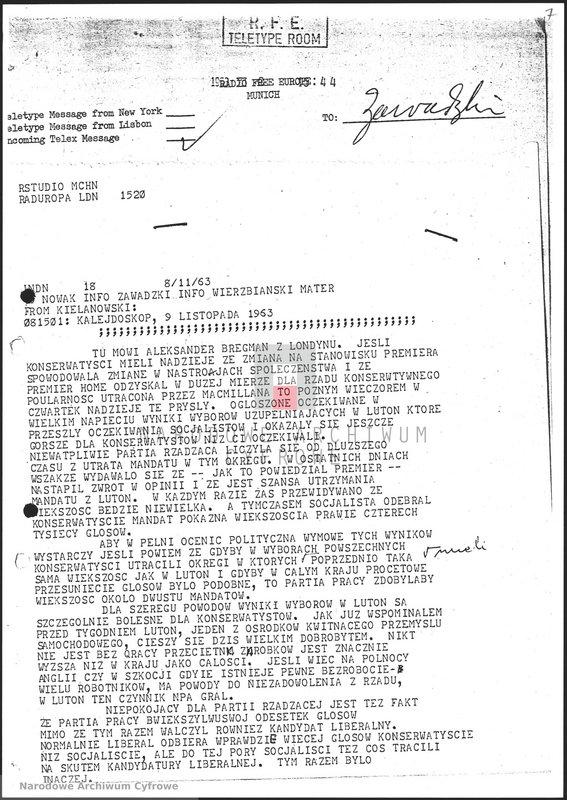 """Obraz 8 z jednostki """"Skrypty audycji z dnia 09.11.1963"""""""