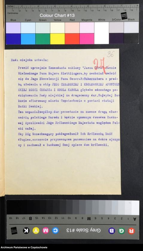 """Obraz 9 z kolekcji """"Usunięcie pomnika Aleksandra II Romanowa w Częstochowie"""""""