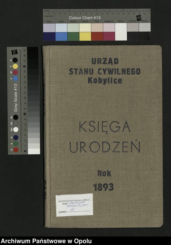 """Obraz 2 z jednostki """"Urząd Stanu Cywilnego Kobylice Księga urodzeń rok 1893"""""""
