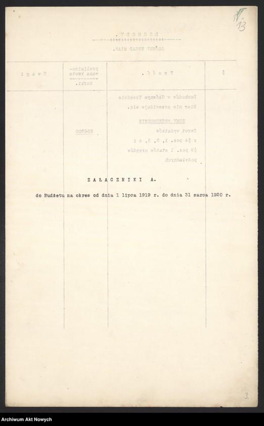 """Obraz 15 z jednostki """"[Budżet Służby Legalizacji Narzędzi Mierniczych na drugie półrocze 1919 r. i okres do 31 III 1920 r. Wyjaśnienia, zestawienia, załączniki.]"""""""