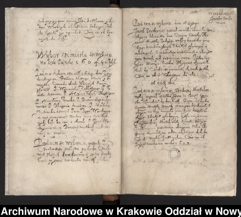 """image.from.collection.number """"Fragment księgi cechu szewskiego w Starym Sączu z lat 1603-1709"""""""