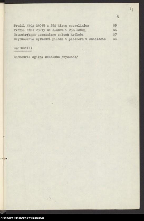 """Obraz 7 z jednostki """"Ogólny projekt ,wstępny """"JAMEL"""" - lekki samolot wielozadaniowy ."""""""