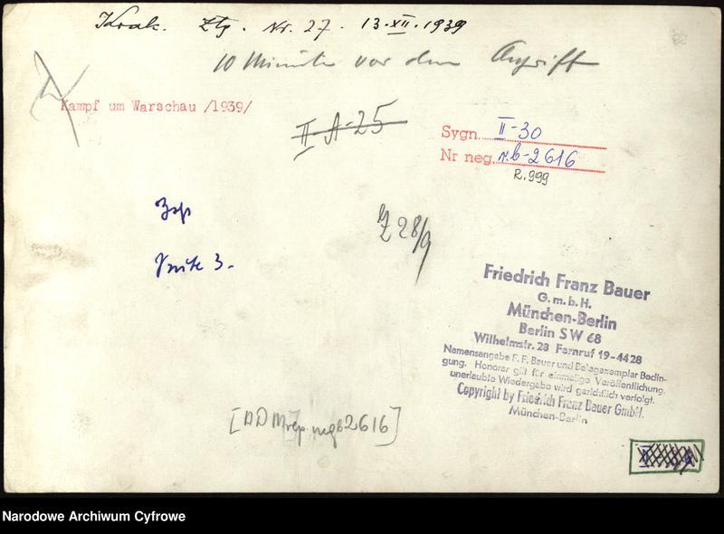 """Obraz 1 z jednostki """"Żołnierze niemieccy w okopach podczas walk o Warszawę"""""""