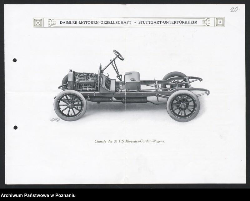 """Obraz 5 z kolekcji """"Automobile - prospekty reklamowe z początku XX wieku"""""""