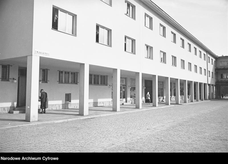 Obiekt Fragment zabudowań miejskich na Placu Michała Grażyńskiego. z jednostki Wisła