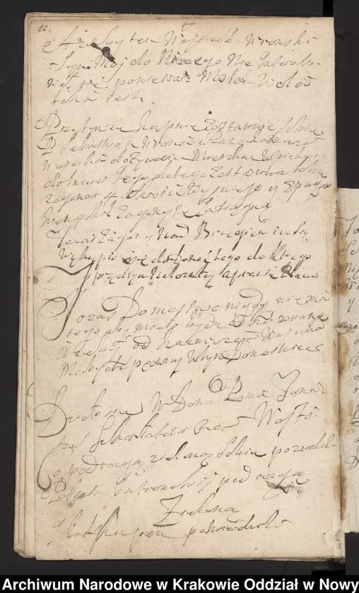 """Obraz 5 z kolekcji """"Fragment księgi wójtowsko-ławniczej miasta Limanowej z lat 1750-1818"""""""