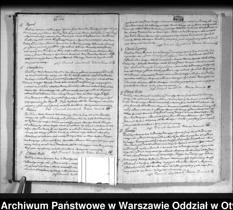 """Obraz 6 z jednostki """"Akta urodzeń, małżeństw i zgonów"""""""