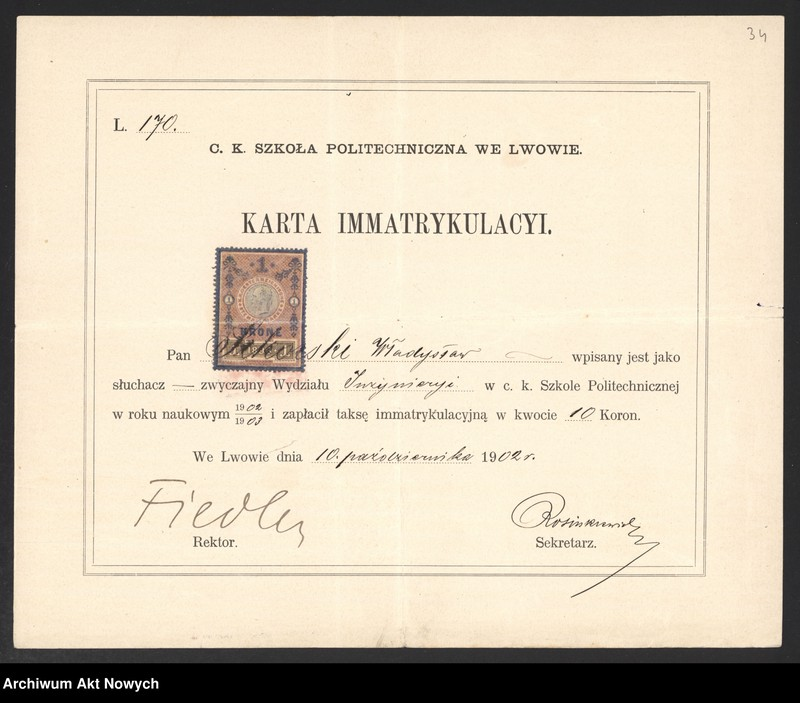 """Obraz 15 z kolekcji """"Władysław Sikorski - biografia w dokumencie archiwalnym"""""""
