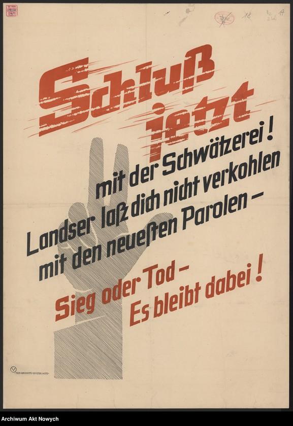 """Obraz 15 z kolekcji """"Propaganda niemiecka z okresu II wojny światowej."""""""