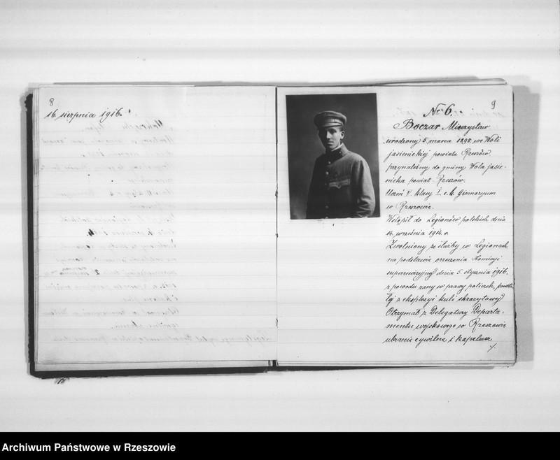 """Obraz 10 z jednostki """"Delegatura Departamentu Wojskowego N.K.W. Rzeszów (album superarbitrowanych Legionistów)."""""""