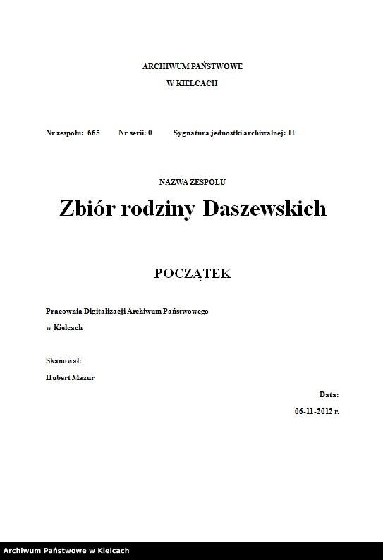 """Obraz z jednostki """"Paszporty Stanisławy Olędzkiej-Daszewskiej"""""""