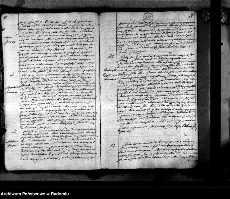 """Obraz 7 z jednostki """"Tczów 1814 [Duplikat akt urodzonych, zaślubionych i zmarłych]"""""""