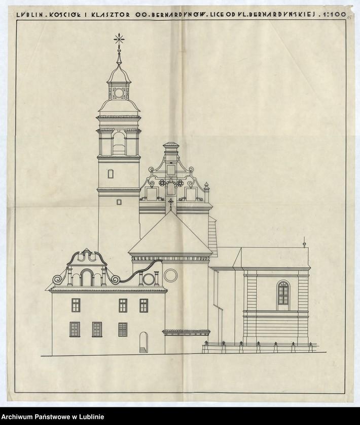 """Obraz 16 z jednostki """"[ Plan kościoła OO. Bernardynów w Lublinie]"""""""