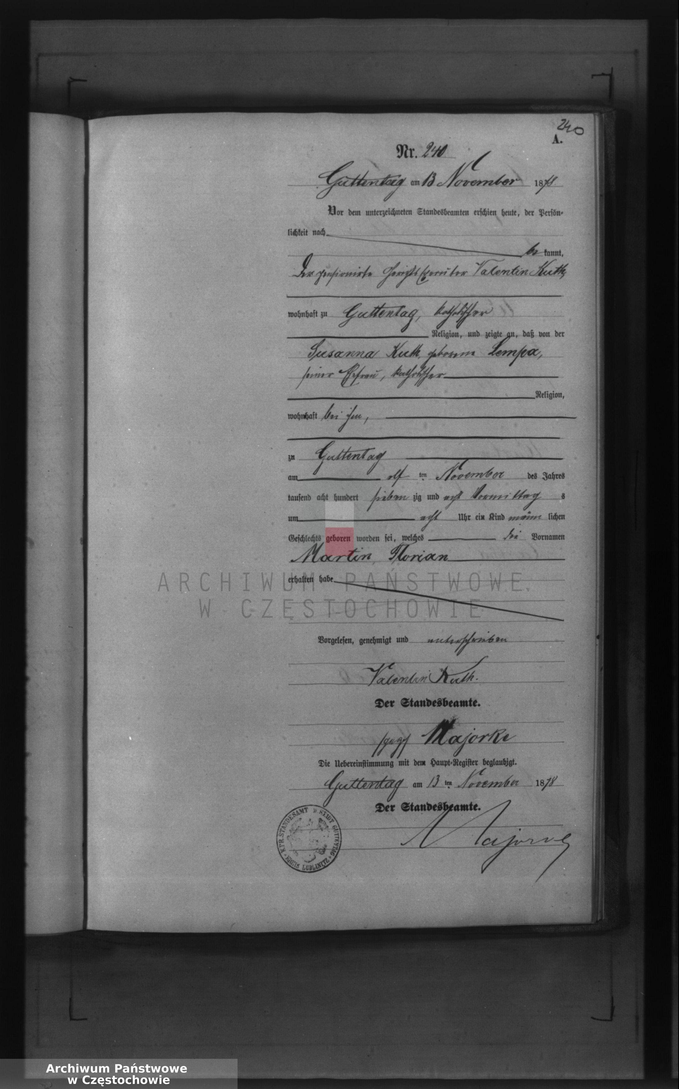 Skan z jednostki: [Wtóropis aktów urodzeń z 1878 roku ].