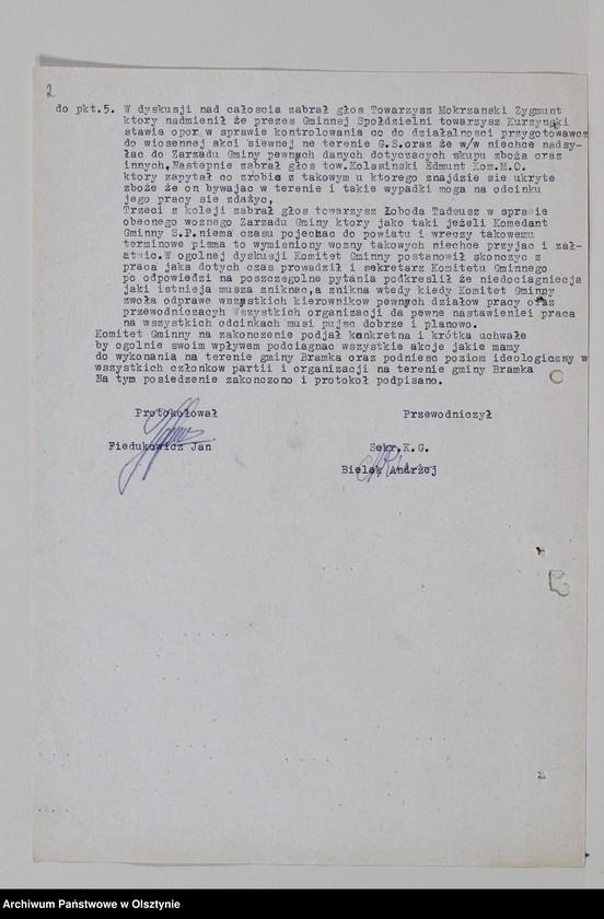 """image.from.unit """"Protokoły zebrań wyborczych /1950-1951/, posiedzeń plenarnych, egzekutywy, narad aktywu partyjnego, plany pracy, sprawozdania, ankiety sprawozdawcze /1949-1954/ Komitetu Gminnego PZPR"""""""