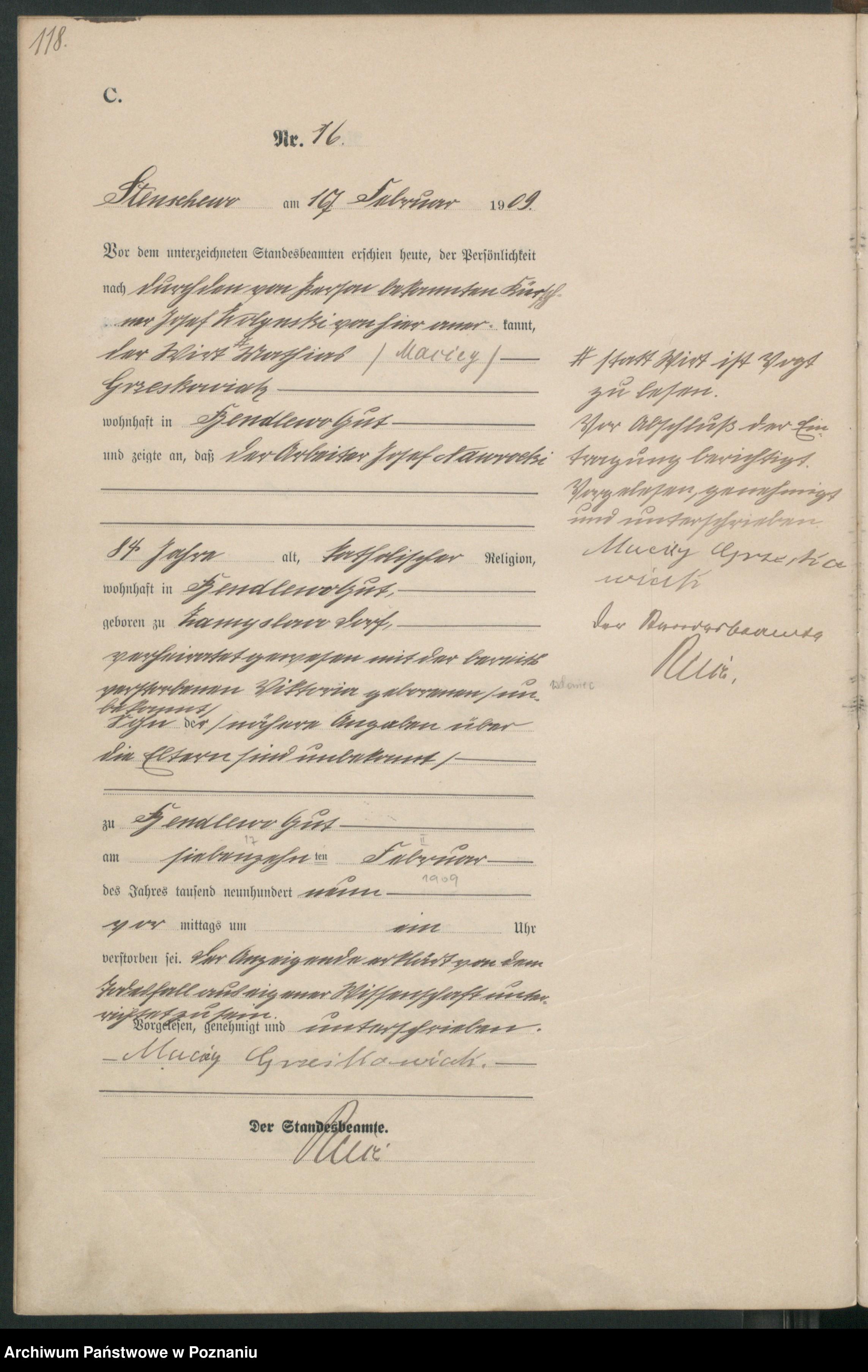 Skan z jednostki: Sterbe-Haupt-Register