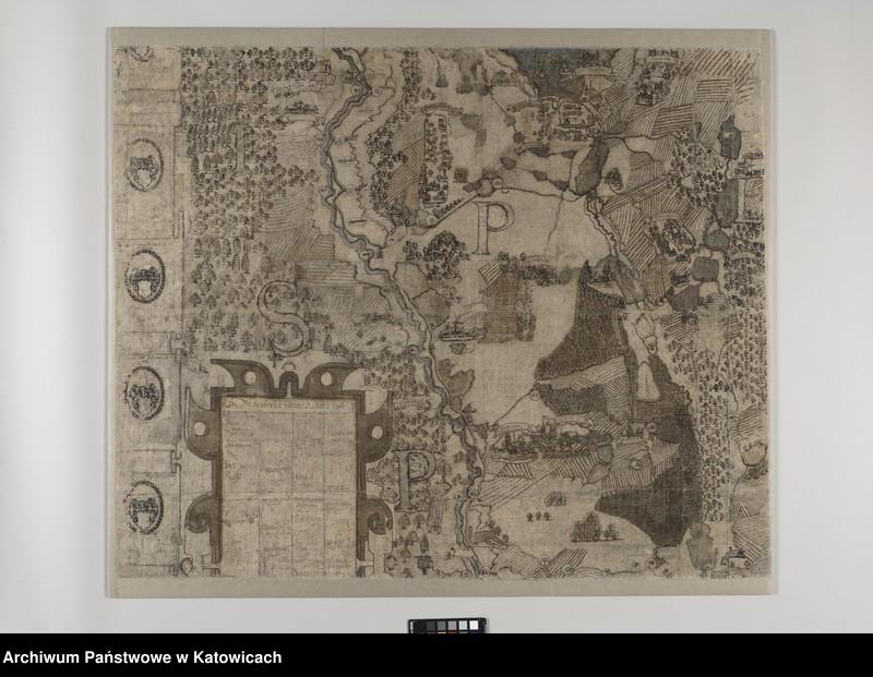 """image.from.unit """"Mapa pszczyńskiego wolnego państwa stanowego [""""Ichnoorthografia Plesniaca""""] Andreasa Hindenberga z 1636 roku"""""""