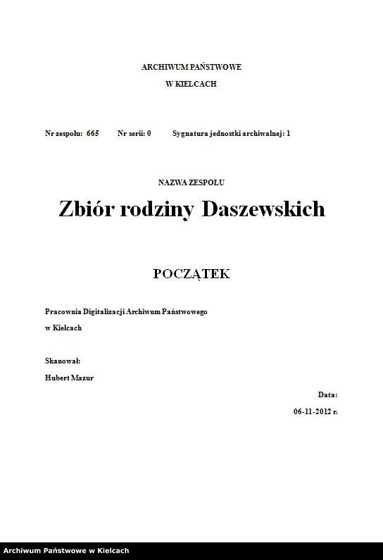 """Obraz z zespołu """"Zbiór rodziny Daszewskich"""""""