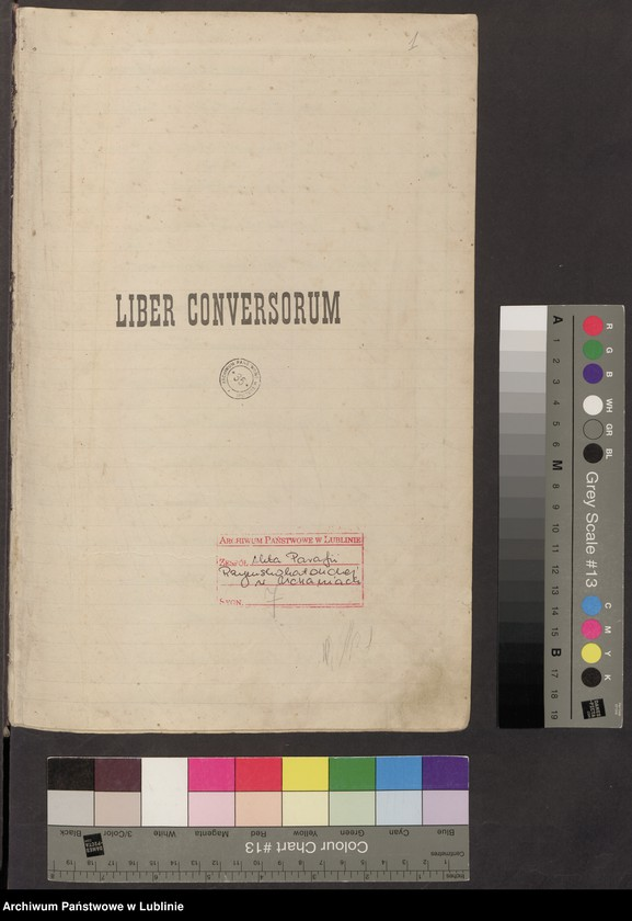 """Obraz z jednostki """"Liber conversorum 1905 an[no] a die 11 mai"""""""
