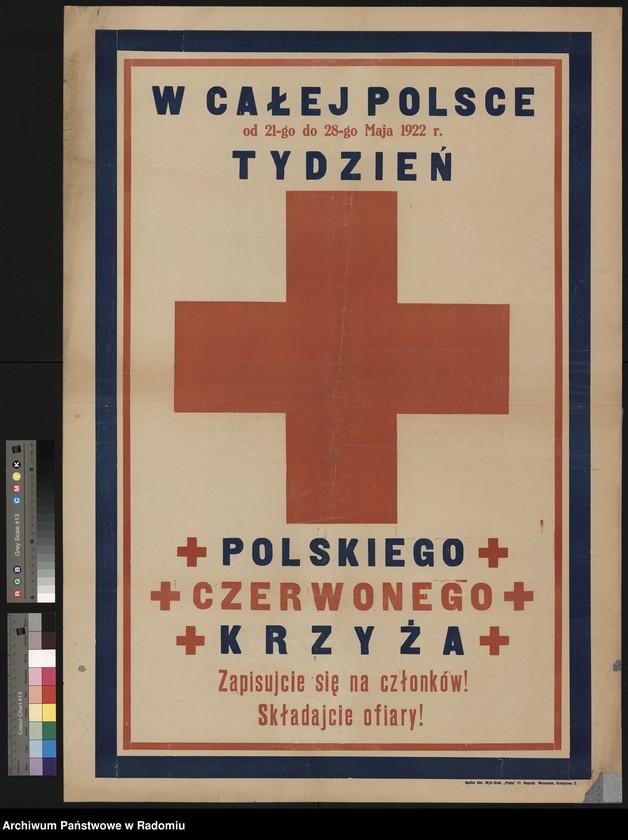 """Obraz 1 z kolekcji """"Polskie Towarzystwo Czerwonego Krzyża (Od 1927 r. Polski Czerwony Krzyż)"""""""