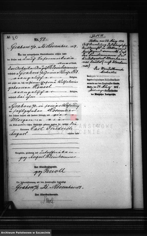 """Obraz z zespołu """"Urząd Stanu Cywilnego w Szczecinie Grabowie"""""""