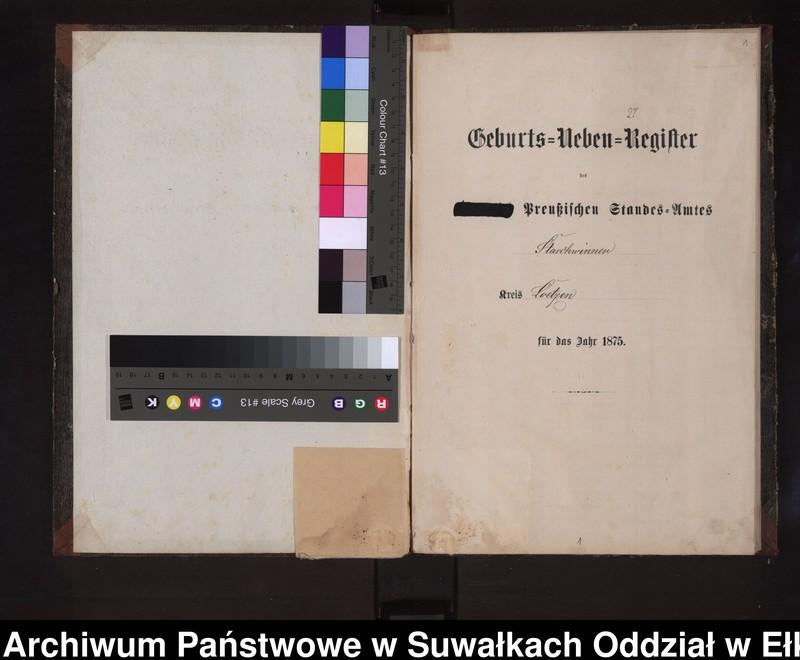 """image.from.unit """"Geburts-Neben-Register des Preussischen Standes-Amtes Stasschwinnen Kreis Loetzen"""""""