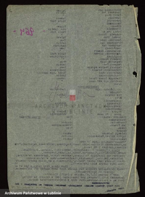 """Obraz 4 z jednostki """"[Wykazy aresztowanych członków Armii Krajowej przetrzymywanych w więzieniach w Biłgoraju, Wronkach i innych na terenie kraju oraz w ZSRR]"""""""