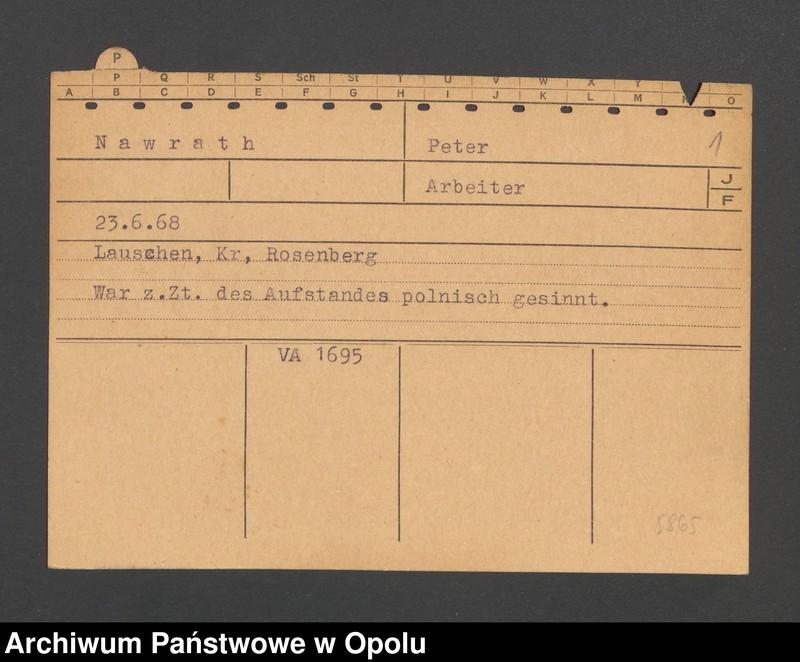 """Obraz 3 z jednostki """"[Nawrath Peter, ur. 23.6.1868, zam. Lauschen]"""""""