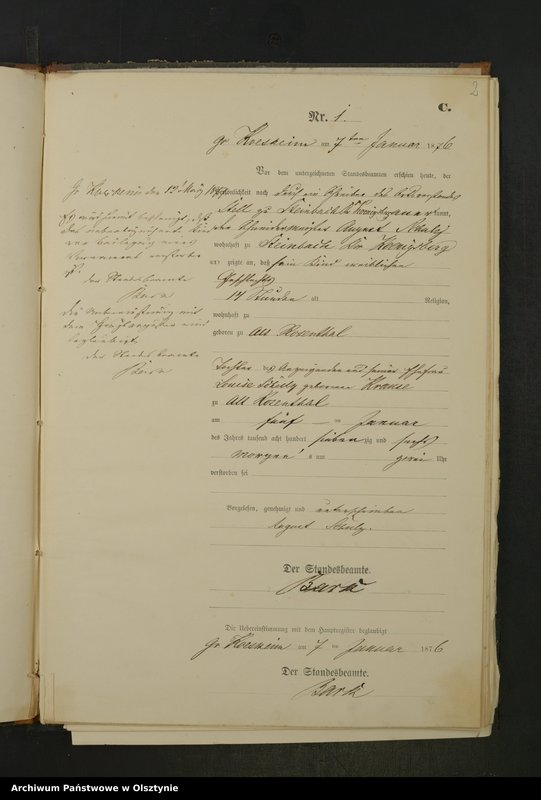 "Obraz z jednostki ""Sterbe-Neben-Register Nr 1 - 26"""