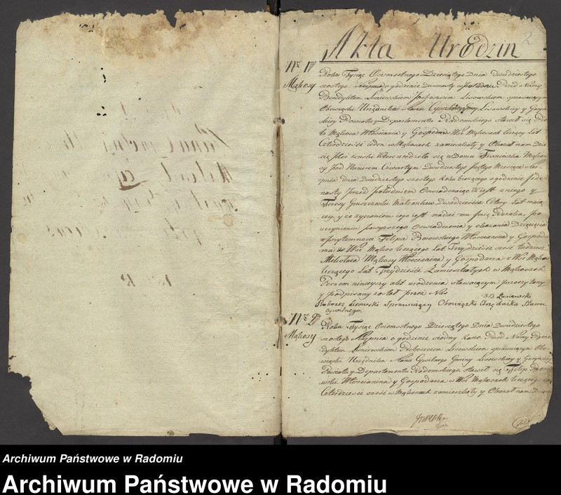 """Obraz z jednostki """"Duplikat parafii Lisów z r. 1810 do 1823"""""""