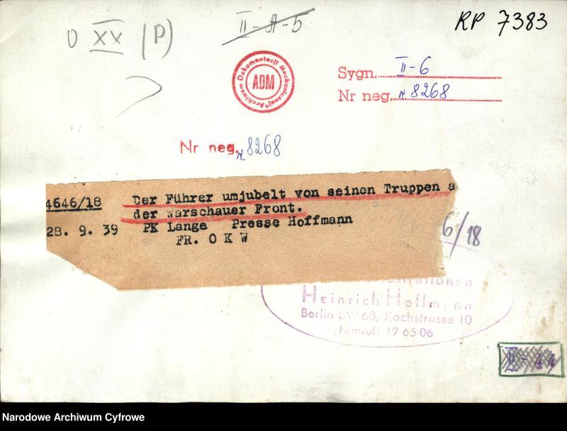 """image.from.unit """"Inspekcja Adolfa Hitlera w czasie kampanii wrześniowej"""""""