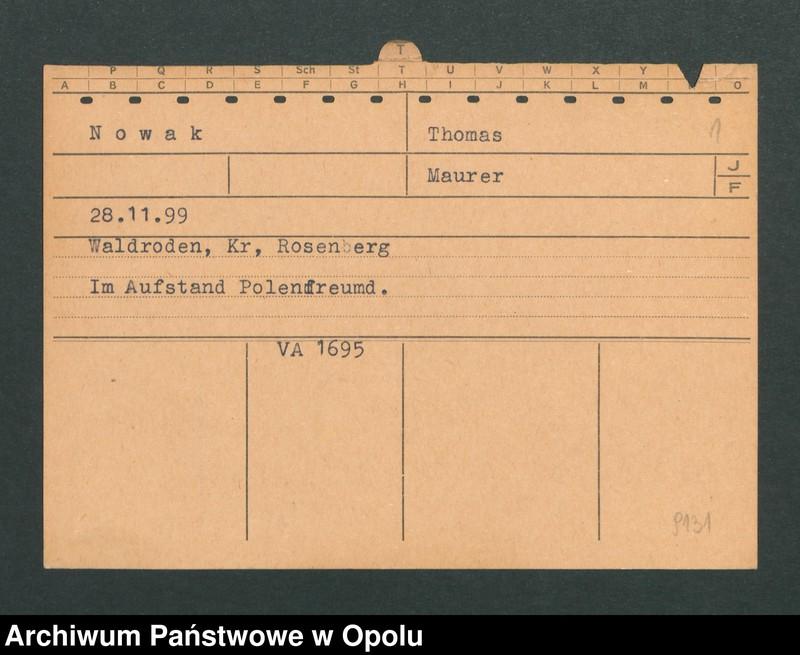 """Obraz 3 z jednostki """"[Nowak Thomas, ur. 28.11.1899, zam. Waldroden]"""""""