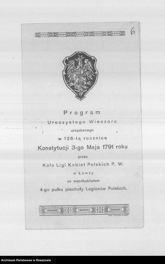 """Obraz 16 z kolekcji """"Legiony Polskie w zbiorach AP Rzeszów"""""""
