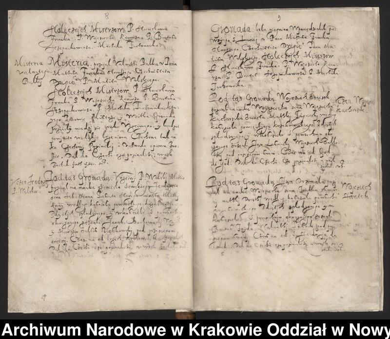 """Obraz 15 z kolekcji """"Fragment księgi cechu szewskiego w Starym Sączu z lat 1603-1709"""""""