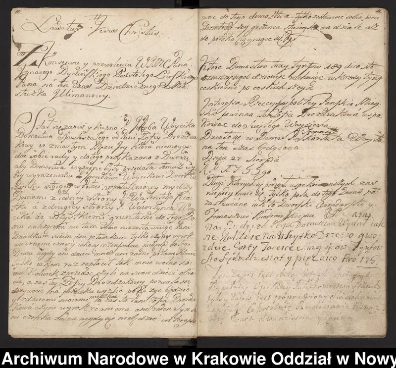 """Obraz 2 z kolekcji """"Fragment księgi wójtowsko-ławniczej miasta Limanowej z lat 1750-1818"""""""