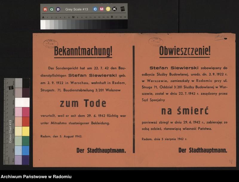 """Obraz 4 z kolekcji """"Represje niemieckie w Dystrykcie Radomskim."""""""