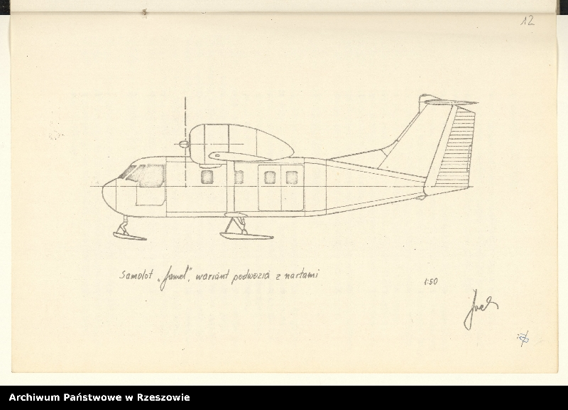 """Obraz 15 z jednostki """"Ogólny projekt ,wstępny """"JAMEL"""" - lekki samolot wielozadaniowy ."""""""