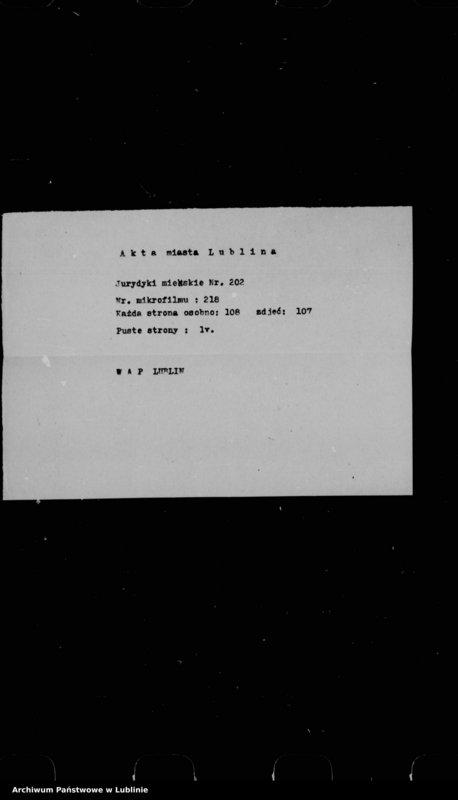"Obraz 2 z jednostki ""Acta seu liber inscriptionum villae Conopnicza --"""