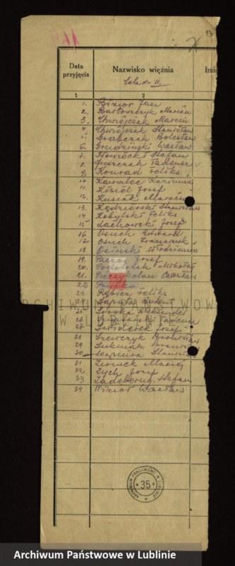 """Obraz 11 z jednostki """"[Wykazy aresztowanych członków Armii Krajowej przetrzymywanych w więzieniach w Biłgoraju, Wronkach i innych na terenie kraju oraz w ZSRR]"""""""
