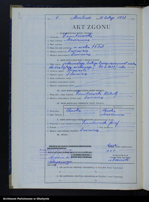 """Obraz z jednostki """"Ksiega zgonów Nr 3 - 42,1 - 44 /przepisana w języku polskim z oryginału niemieckiego w dniach 11.09.- 15.09.1961/"""""""