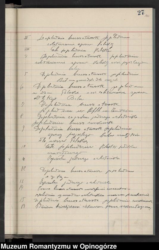 """Obraz 12 z jednostki """"Księga raportów dziennych Stacji nr 3 w City Stall. (Rekrutacja do Armii Hallera)."""""""