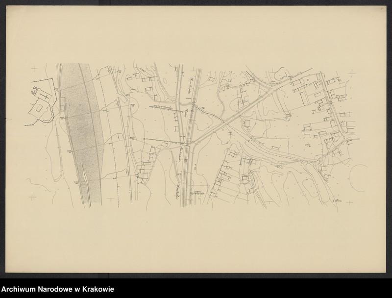 """Obraz 12 z jednostki """"[Kraków (część) Plan sytuacyjno-warstwicowy sprzed 1908 (kolej obwod.) po 1903 r.]"""""""