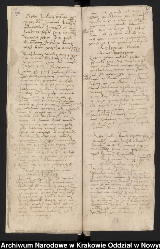 """Obraz 6 z kolekcji """"Fragment księgi wójtowsko - ławniczej miasta Starego Sącza z lat 1480-1563"""""""
