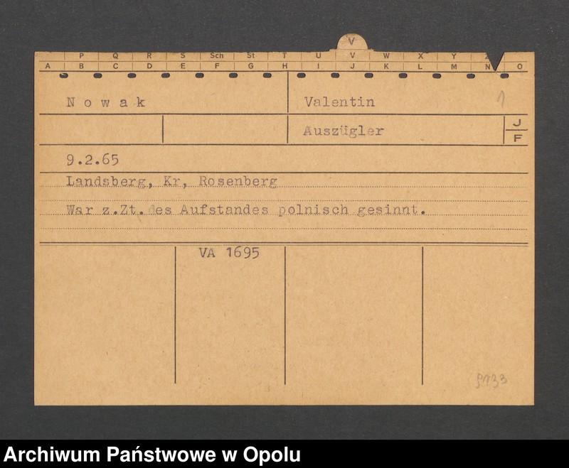 """Obraz 3 z jednostki """"[Nowak Valentin, ur. 9.2.1865, zam. Landsberg]"""""""