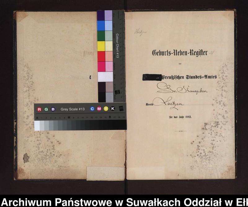 """image.from.unit """"Geburts-Neben-Register des Preussischen Standes-Amtes Gr. Konopken Kreis Loetzen"""""""