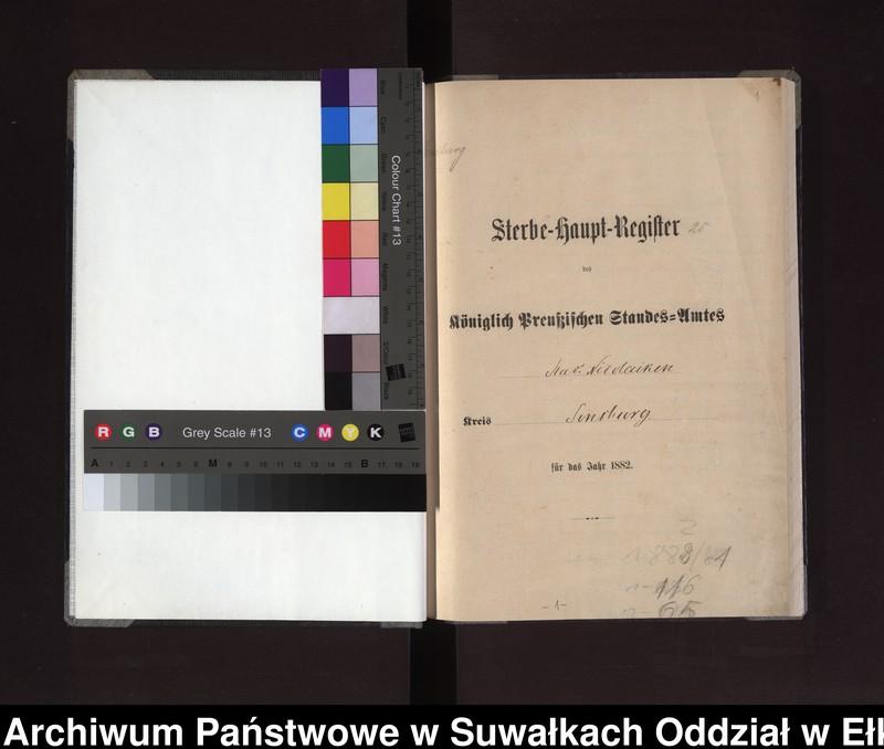 """image.from.unit """"Sterbe-Haupt-Register des Königlich Preussischen Standes-Amtes Stadt Nicolaiken Kreis Sensburg"""""""