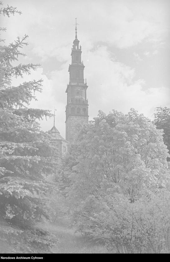 Obiekt Klasztor Jasna Góra - widoczna wieża. z jednostki Częstochowa